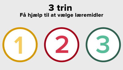 3 trin: Få hjælp til at vælge læremidler